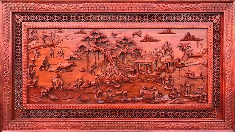 Ý nghĩa của tranh gỗ đồng quê là gì cách treo tranh ra sao