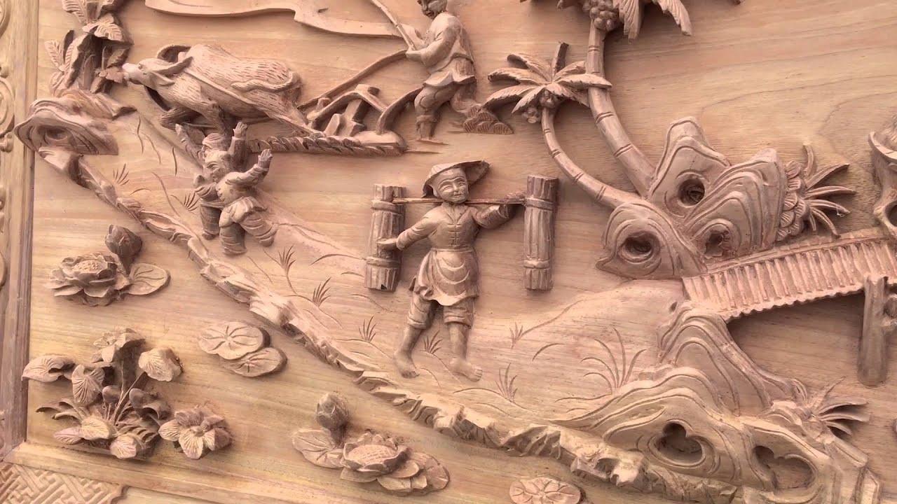 Tranh gỗ đồng quê có màu sắc tự nhiên