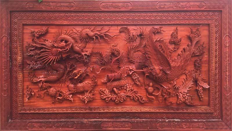 Tranh gỗ Tứ Linh mang đậm bản sắc tâm linh