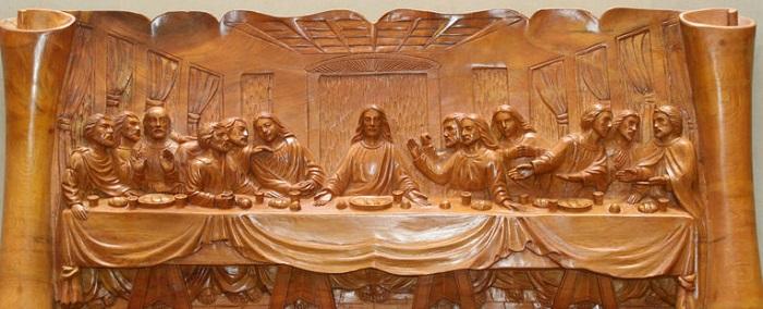 Tranh gỗ bữa tiệc ly được nhiều người ưa chuộng
