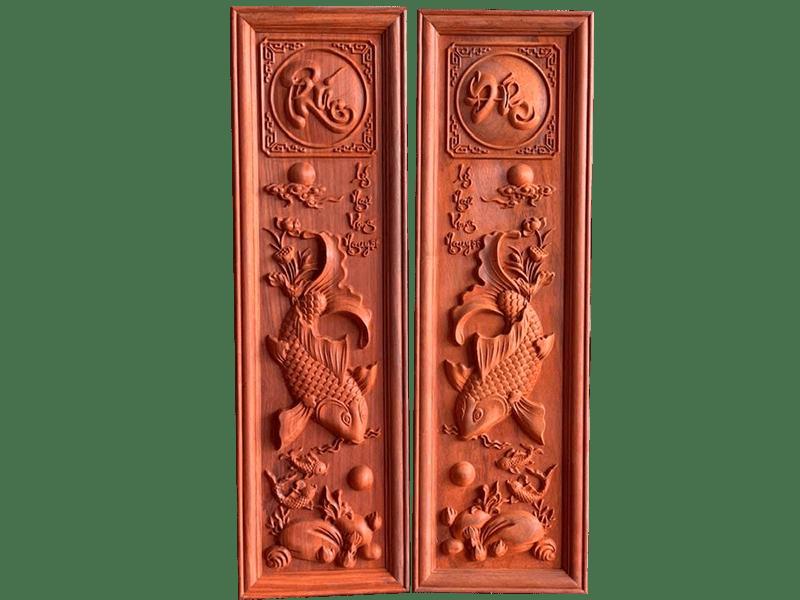 Tranh gỗ lý ngư vọng nguyệt tại đồ gỗ Việt An chất lượng, giá cả cạnh tranh