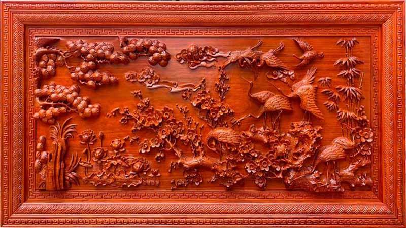 Tranh gỗ có giá trị thẩm mỹ cao