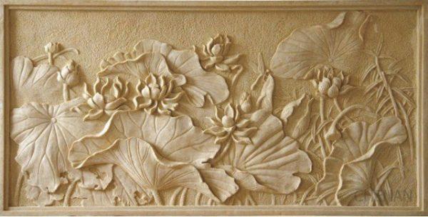 Tranh gỗ hoa sen có ý nghĩa phong thủy rất tốt đẹp