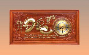 Tranh gỗ đồng hồ chữ Đức - KT 41-81