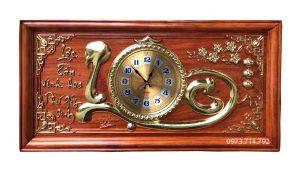 Tranh gỗ đồng hồ chữ Lộc - KT 41-81