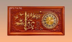 Tranh gỗ đồng hồ chữ Lộc - KT41x81