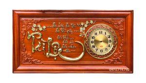 Tranh gỗ đồng hồ Tài Lộc - KT 41-81