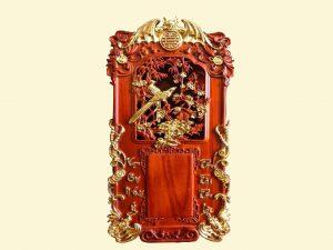 Đốc lịch Uyên Ương gỗ hương mạ vàng 40x70x3