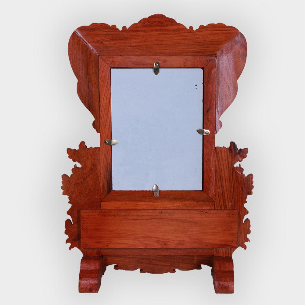 khung ảnh gỗ 53x38 gỗ hoa mai đẹp