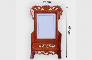 Khung ảnh thờ gỗ gụ ảnh 18x24cm