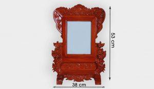 Khung ảnh thờ đục Hoa Mai 18x24cm